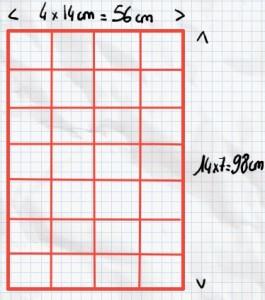 Mesure des carrés patchwork tutoriel