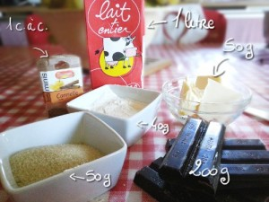 Recette crème au chocolat facile ingrédients