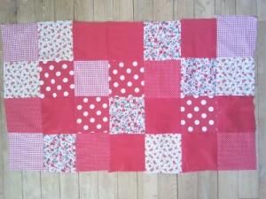 patchwork assemblé tutoriel housse coussin